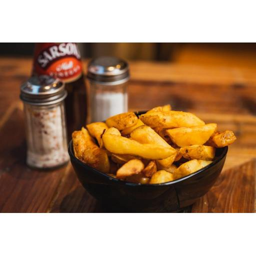 Chunky skin-on chips